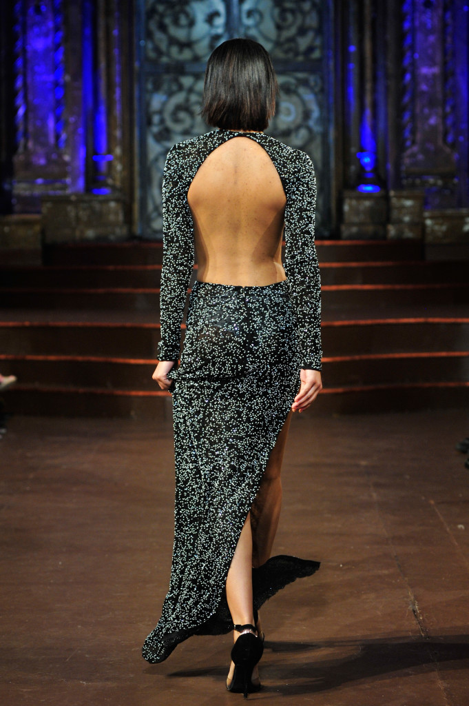 NEW YORK, NY - FEBRUARY 15: A model walks the runway at Willfredo Gerardo Art Hearts Fashion NYFW Fall/Winter 2016 at The Angel Orensanz Foundation on February 15, 2016 in New York City. (Photo by Kris Connor/Getty Images For Art Hearts Fashion)
