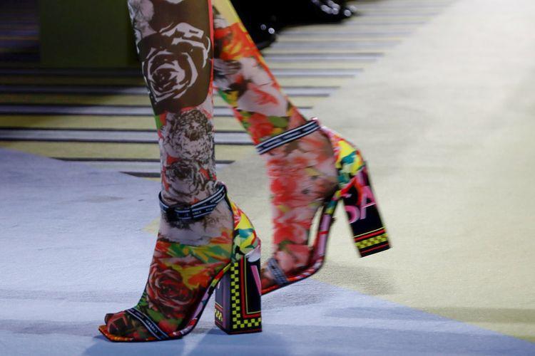 Versace Spring 2019 Milan Fashion Week Show.