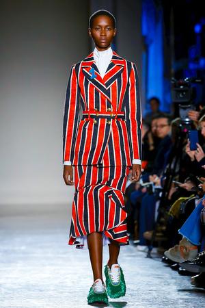 Stella Jean Fall 2018 Milan Fashion Week Show.