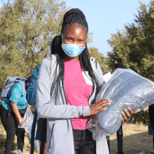 """""""I feel happy to know that there are people who think of me and reach out at a time of need. This shows how important I am. I am grateful,"""" said Charlotte Mabula (27) from Diepsloot."""