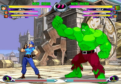 Jill Valentine vs Hulk en Marvel vs Capcom 2
