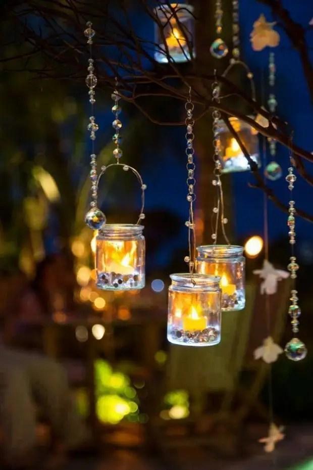 Chandeliers de verre de nuit magnifiques