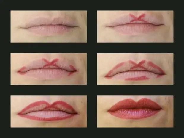 Easy way to draw lip contour