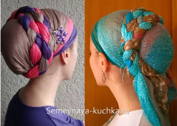 如何在头上绑一条围巾