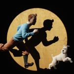 Tintin 3D Art Dark Illustration iPhone se Wallpaper Download     Tintin 3D Art Dark Illustration iPhone se wallpaper