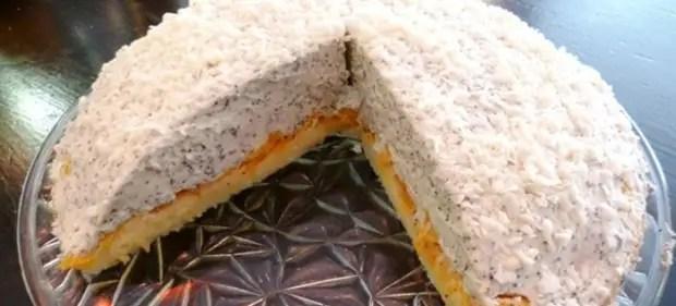 торт с маскарпоне и мандаринами