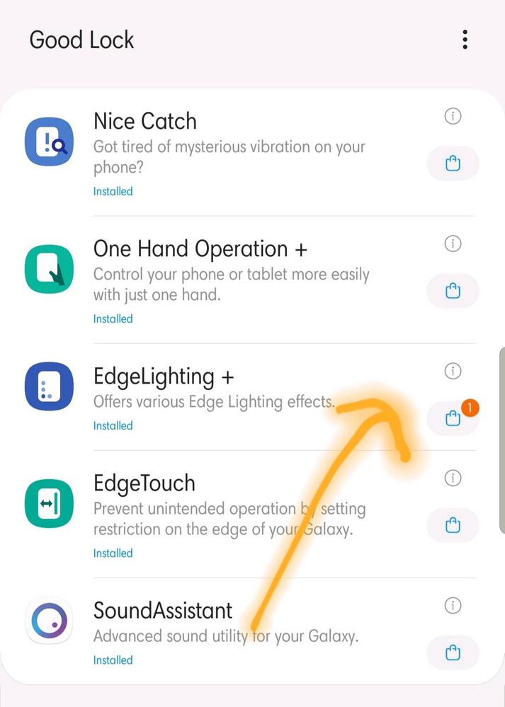 edge lighting update available