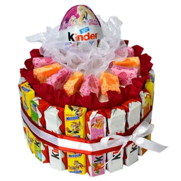 38 ideias para bolos de doces e barras de chocolate