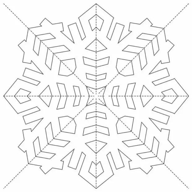 从纸张为新的一年到2020-2021的容量雪花:简单而美丽!镂空模板和方案
