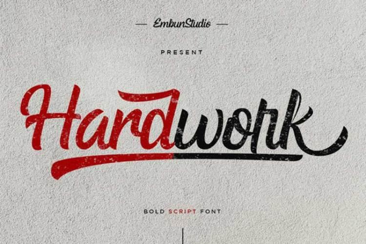 Download Hardwork Bold Script Font! -r2r free download - r2rdownload