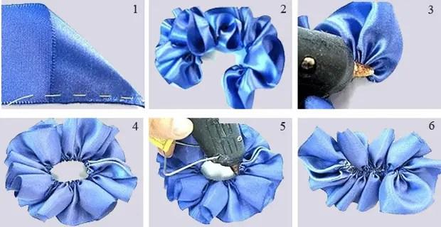 리본에서 간단한 장미를 만드는 방법