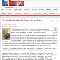 New American Features Constitution Candidates