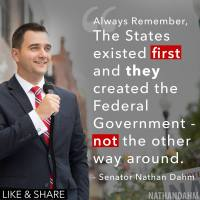 Senator Nathan Dahm:  The States existed First...