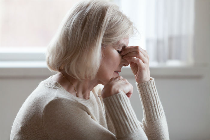 A Las Vegas Senior women suffering from migraines