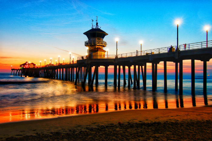 A pier in Huntington Beach, California