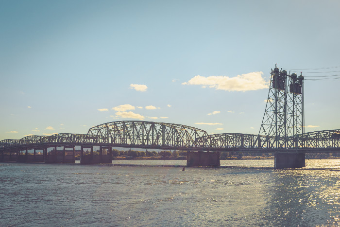 View of Columbia River in Vancouver, WA