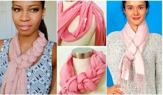 Stílusos és változatos módon viseljen sálakat és zsebkendőket.