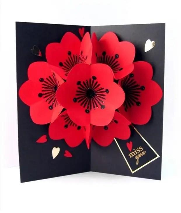 بطاقات المعايدة بالجملة مع الزهور