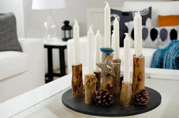 L'arbre est un matériau noble à partir de laquelle des chandeliers très stylés et spectaculaires