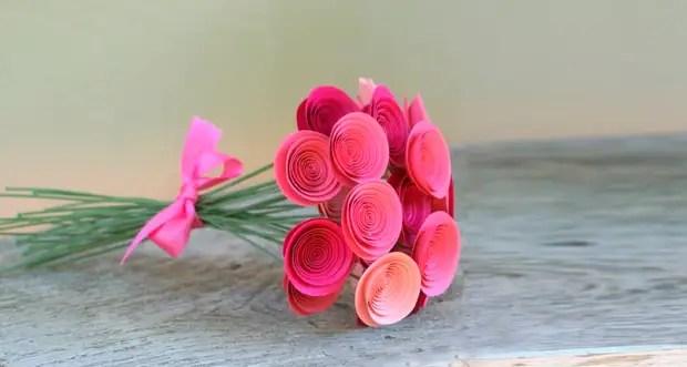 Paper Ruusut Bouquet vain