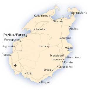 Map or Paros