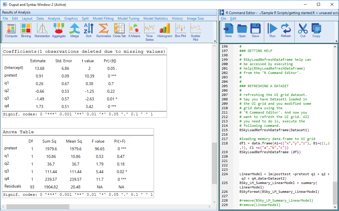A Comparative Review of the BlueSky Statistics GUI for R | r4stats.com