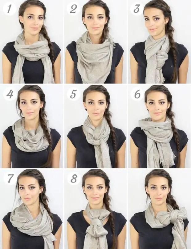 Nyolc módja a sálat viselni.