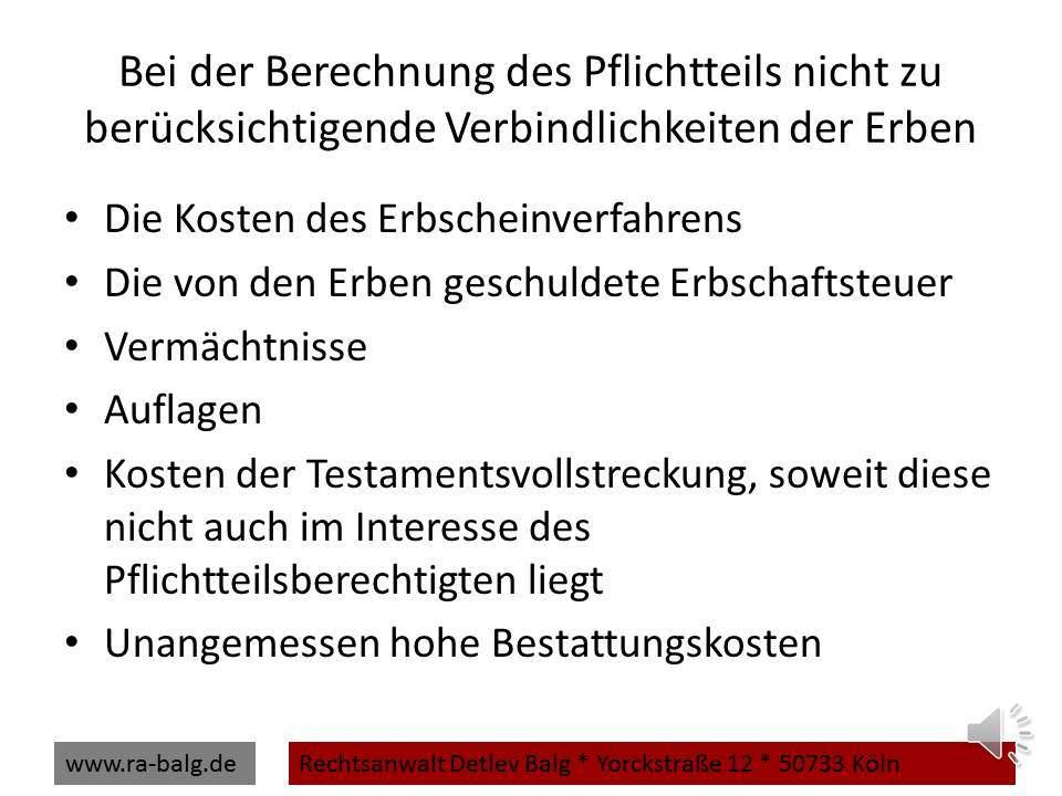 rbrecht-Pflichtteil-Nicht-zu-berücksichtigende-Nachlassverbindlichkeiten | Fachanwalt für Erbrecht Detlev Balg * Köln