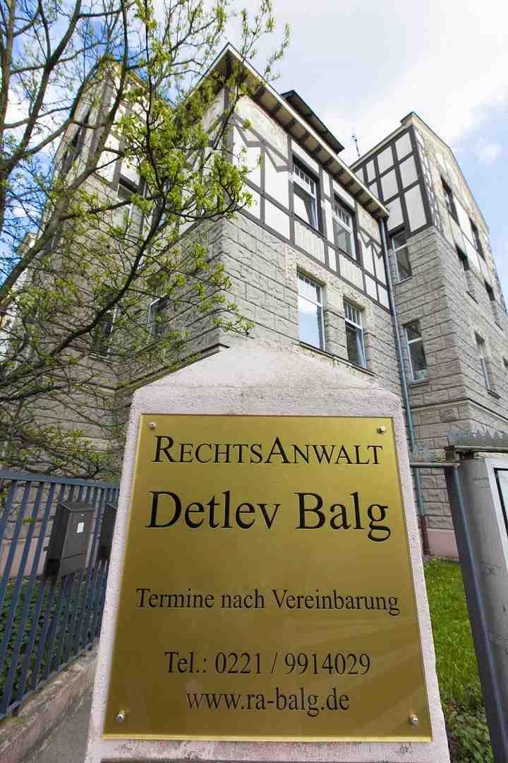 Kanzlei Rechtsanwalt Detlev Balg * Yorckstraße 12 * 50733 Köln