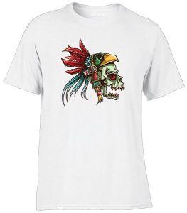 skull with eagle headdress tattoo style shirt
