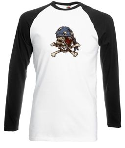 Pirate Skull with Bandana tattoo style shirt