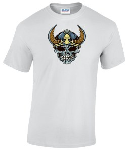 Skull with Helmet and Horns shirt