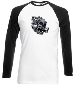 Skull with Red Eyes tattoo style shirt