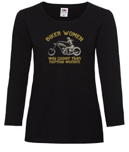 biker women way cooler ladies top