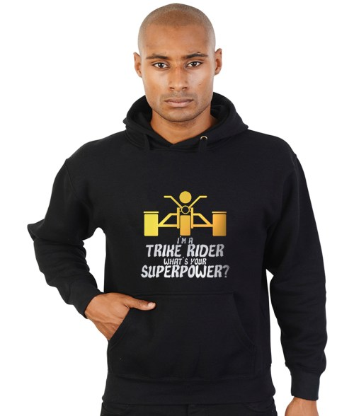 trike rider superpower biker hoodie
