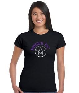 magick inc with pentacle ladies pagan shirt