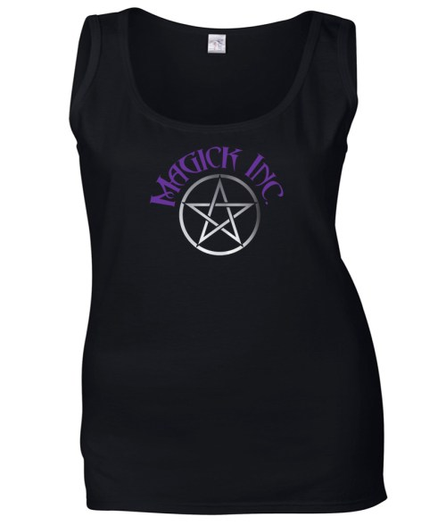 magick inc with pentacle ladies pagan shirt