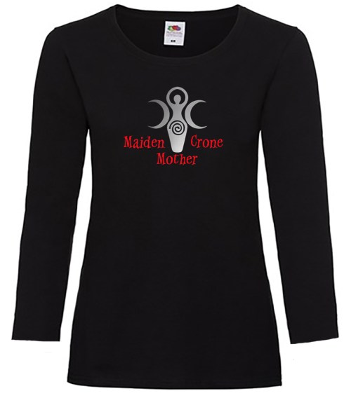 maiden mother and crone ladies pagan shirt