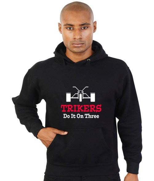 trikers do it on three biker hoodie