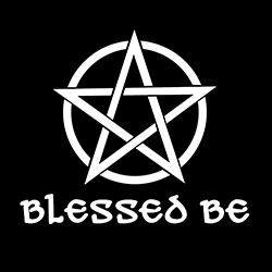 blessed be with pentacle