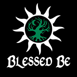 blessed be with sun and tree