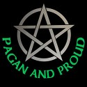 pagan and proud with silver pentacle design