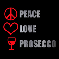 peace love prosecco ladies lifestyle design