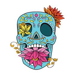 sugar skull design 04