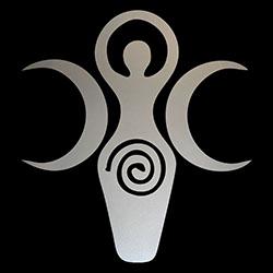 pagan triple goddess symbol ladies design