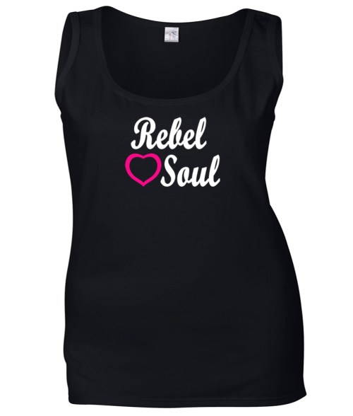 rebel soul ladies funny shirt