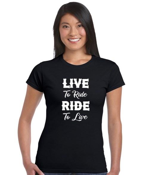 live to ride ride to live biker shirt