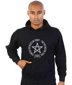 truth never dies with pentagram pagan hoodie