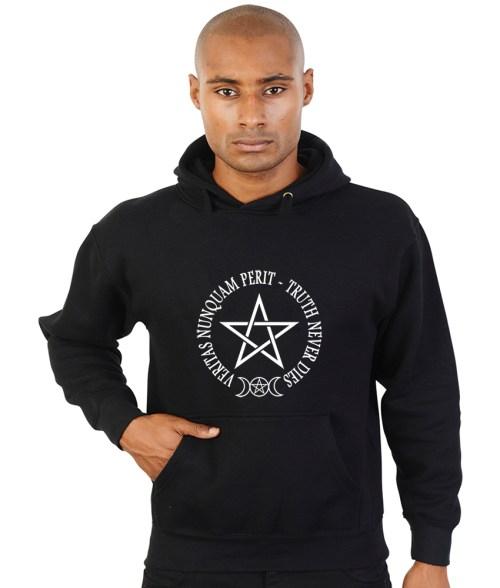 truth never dies with pentagram pagan hoodie