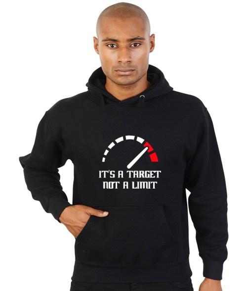 it's a target not a limit biker hoodie